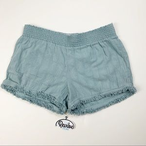 Kut from Kloth Linen Frayed Seafoam Shorts D3534